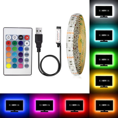 RGB TV Back Side USB LED Light - 2 Meter