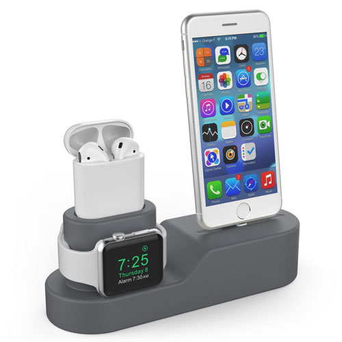 3 in 1 Premium Silicone Charging Stand f...