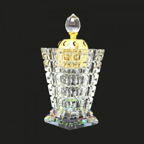 Crystal Glass Incense Bakhoor Bukhur Bur...