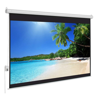 Portable Projector Screen with Automatic Button For ON/OFF For Wall 100 Inch