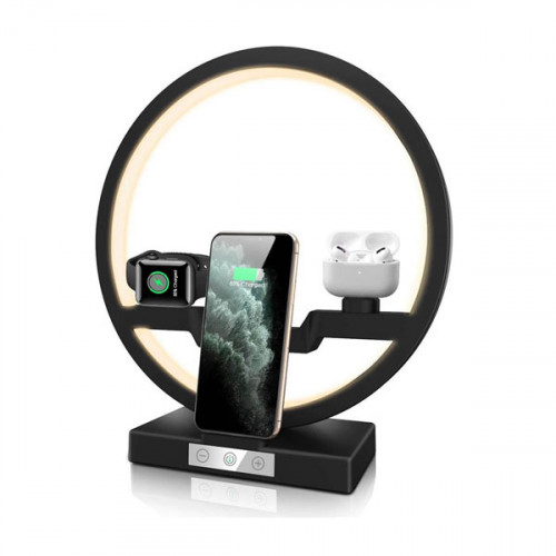 3 In 1 Wireless Charger Table Desk Lamp ...
