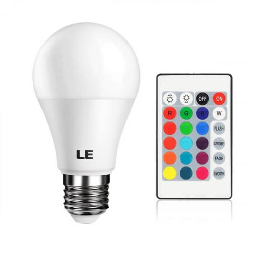 LED Bulb RGB + White 16 Color LED Dimma...