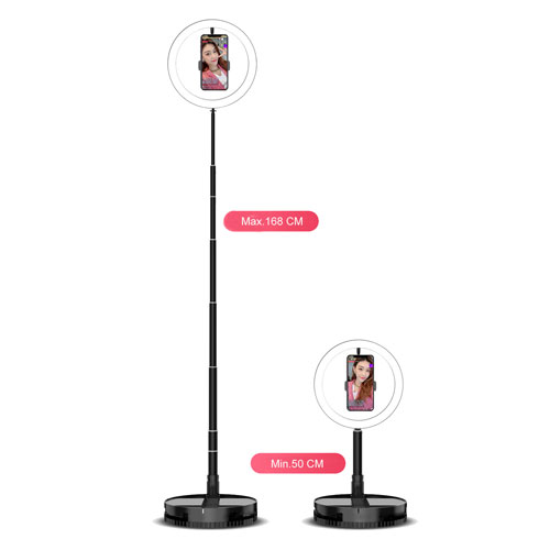 Foldable Round Selfie Ring Light with wi...