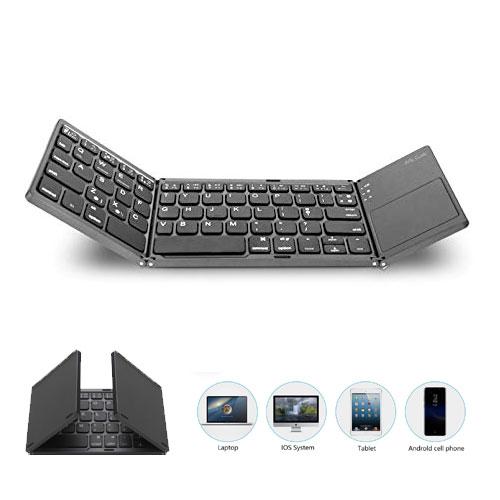 Mini Foldable Bluetooth Keyboard with To...