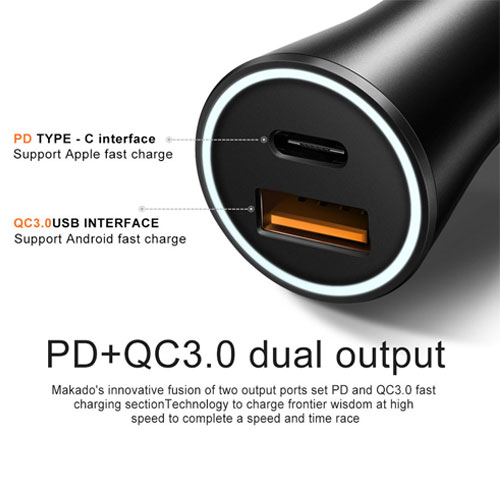 McDodo PD 30W Car Charger with USB 3.0 Charger
