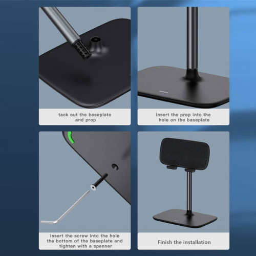 """Baseus Adjustable Portable Tablet & Phone Stand for Bed/Desk, Compatible with (5.5-21.5"""") Tablets"""