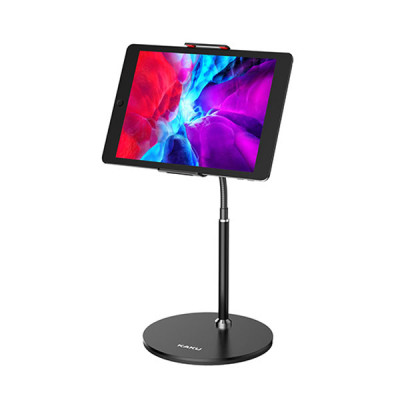 KAKU Portable Adjustable Aluminum Stand For Mobiles & iPads Till 11 inch