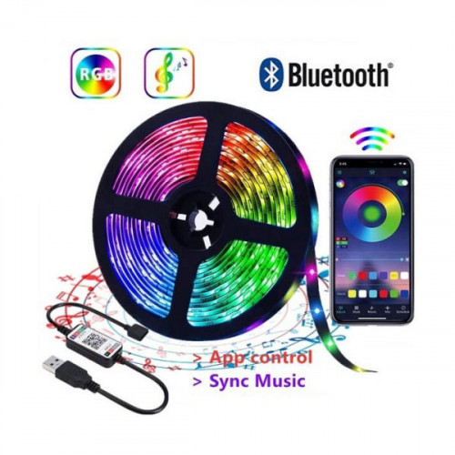 LED Strip Lights with Music Sync,Remote Control and App Control  Color Changing RGB LED Light - 5 Meters