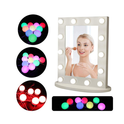RGB Vanity Mirror LED Lights Kit with 10 Dimmable Bulbs for Makeup (Mirror Not Included)