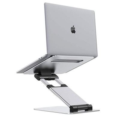 "Aluminum Foldable Portable Adjustable Laptop Stand Height from 2.1"" to 13.8"" , Compatible with MacBook, All Laptops Tablets 11-17"""