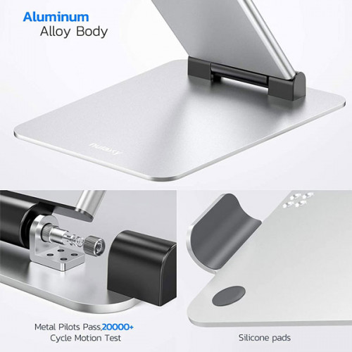 """Aluminum Foldable Portable Adjustable Laptop Stand Height from 2.1"""" to 13.8"""" , Compatible with MacBook, All Laptops Tablets 11-17"""""""