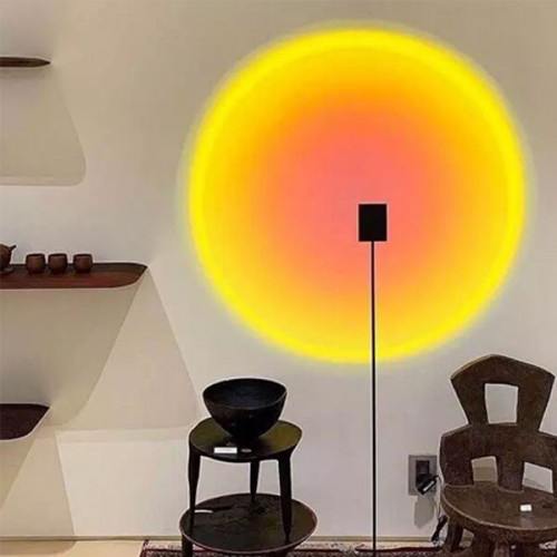 Rainbow Art Sunset Projection Floor Lamp For Decoration