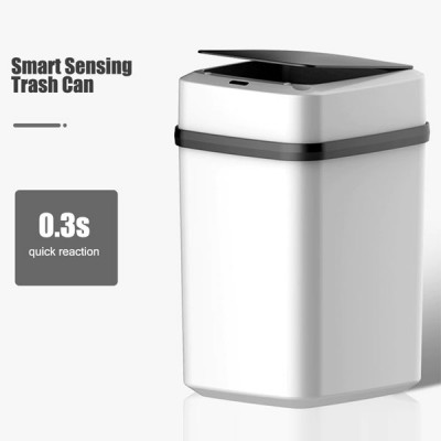 Home Smart Trash Can Automatic Induction with Lid Living Room Kitchen Bedroom Bathroom Infrared Sensor