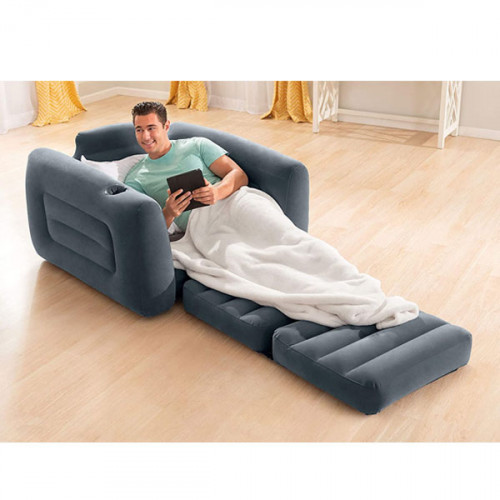 """Intex Pull-Out Chair Inflatable Bed, 46"""" X 88"""" X 26"""""""