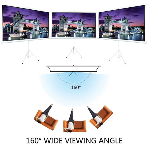 Portable Projector Screen with Stand 100 Inch ( 4 : 3 )
