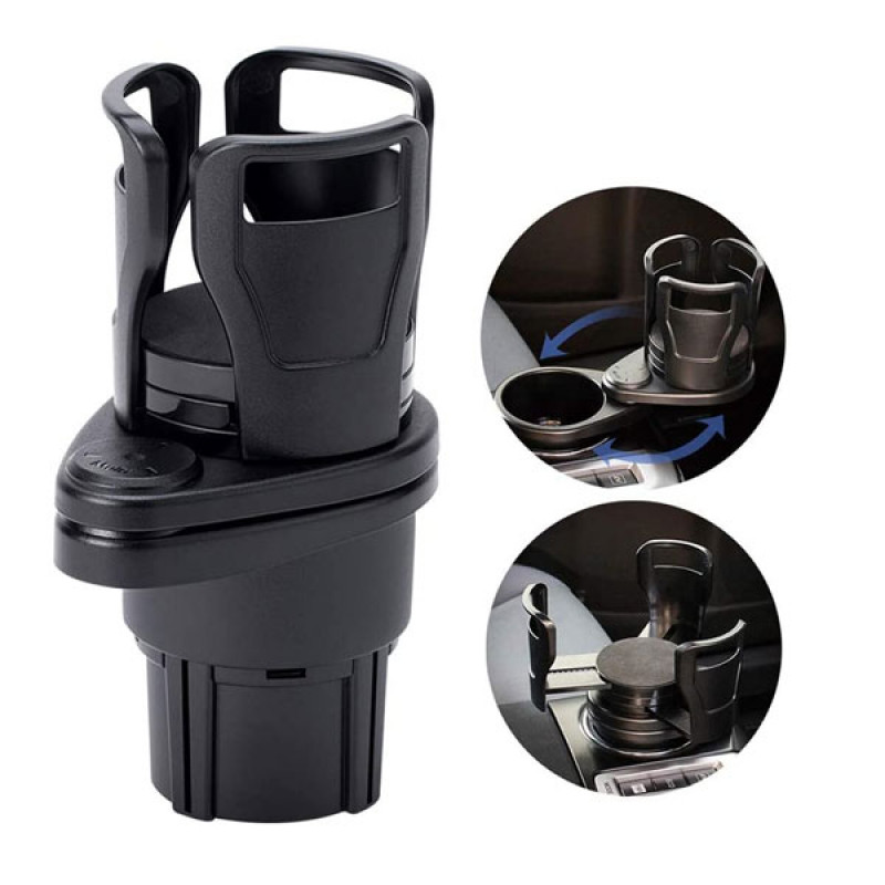2 in 1 Multifunctional Rotation Car Cup Holder