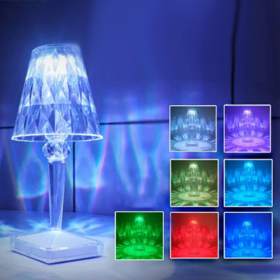 7 Color Changing Desktop Lamp with Remote