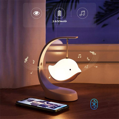 Flying Bird LED Lamp with Bluetooth Speaker with 7 Color Changing