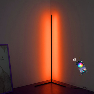 RGB Floor Light, LED Dimmable Corner Floor Lamp with Mobile Application and Remote Control