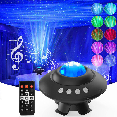 UFO Star Projector Galaxy Light with Remote Control Bluetooth Music Speaker