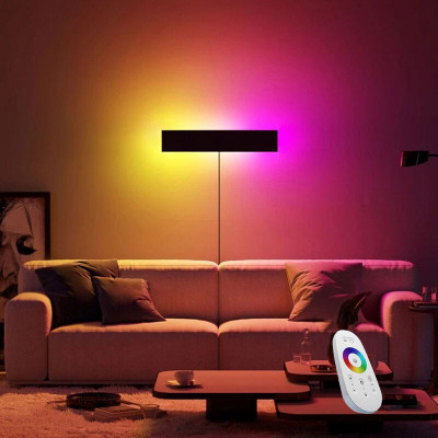 New Modern RGB LED Wall Lamp with Remote