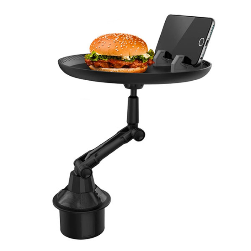 Multifunctional 360° Swivel Adjustable Car Cup Holder Tray