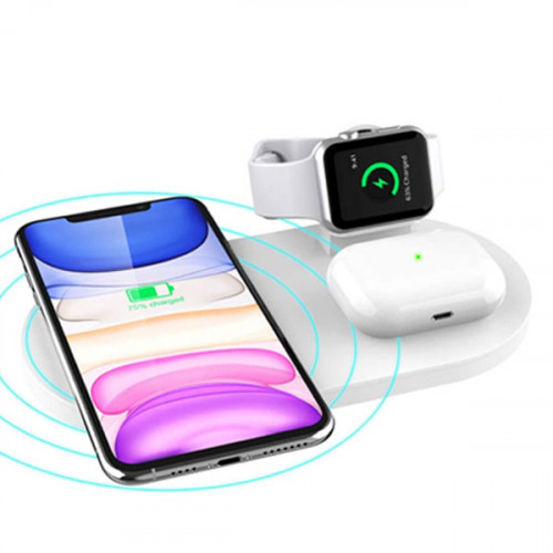 3 in 1 Wireless Charging Station for App...