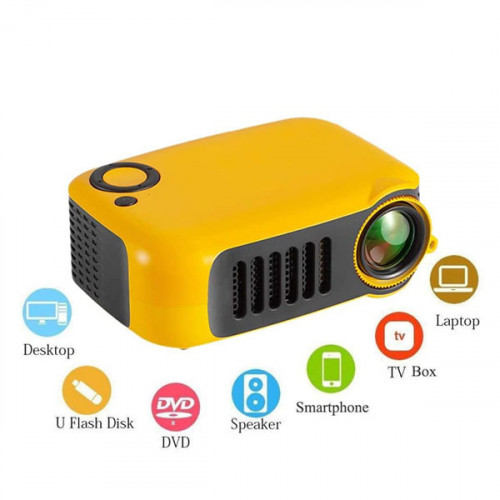 Mini Portable LED Projector For Home and Office ( Works with Power Bank )