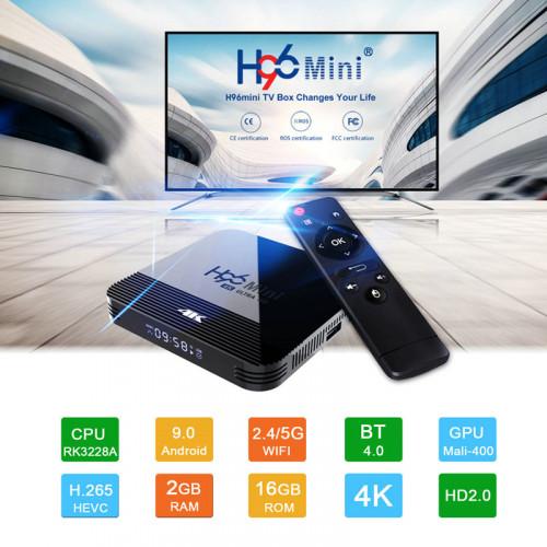 H96 Mini 4K HD Android 9.0 TV 2 GB RAM a...
