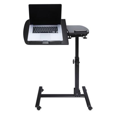 Folding Aluminum Adjustable Laptop Desk For Beside Sofa and Bed - Black