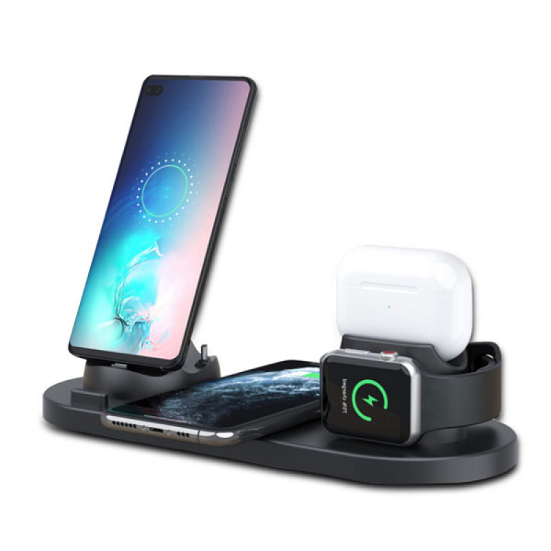 6 in 1 Universal Portable Multifunctional Wireless Charger Stand