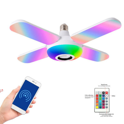 Four Leaves Fan Shaped Bluetooth Speaker with RGB Light