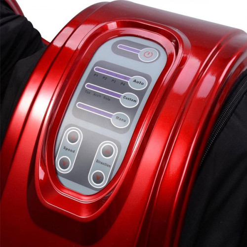 Personal Home Health Care Foot Massager with Remote - Red