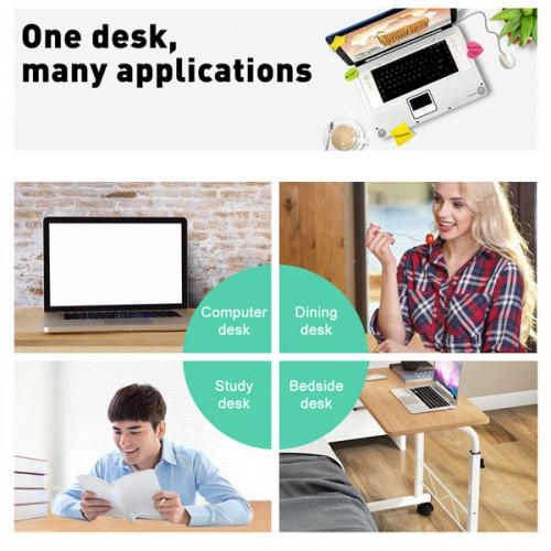 Foldable Adjustable Portable Laptop Desk  ( 80*40 CM ) - Black