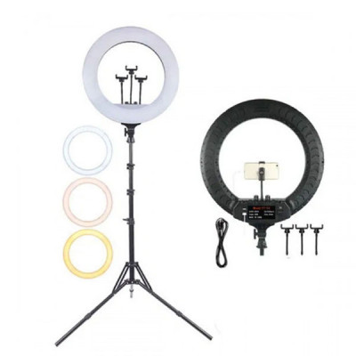 Led Selfie Ring Light with Tripod and 3 Mobile Holder ( 21 inch )