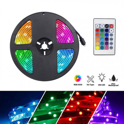 RGB LED Waterproof Color Changing  Strip Light with  Remote Control - 10 Meter