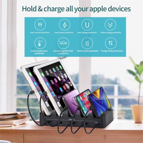 Smart 5 USB Port Charger Station Dock