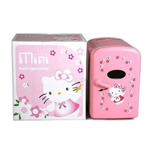 Hello Kitty Mini Refrigerator For Home , Office and Car