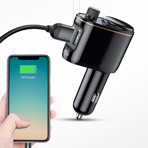 Baseus MP3 Modulator with USB Charger and Cigarette Lighter Port