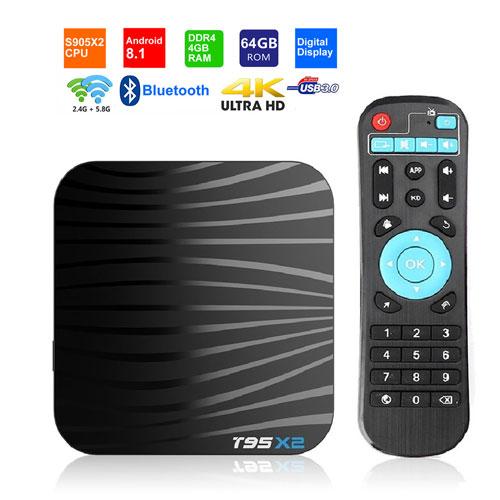 T95X2 Android 8.1 TV BOX Amlogic S905X2 ...