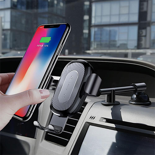 Baseus Gravity Wireless Car Charger For iPhone X , iPhone XS Max , Note 9 , S10
