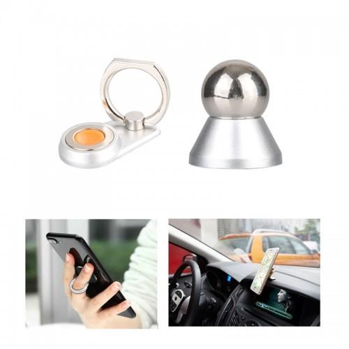 2 in 1 Ring Holder Grip Magnetic Car Das...