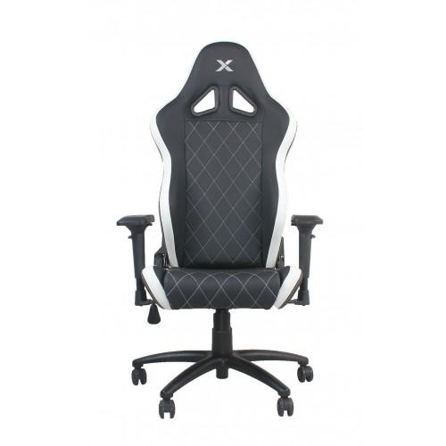 RapidX Ferrino Series Gaming Chair - Whi...