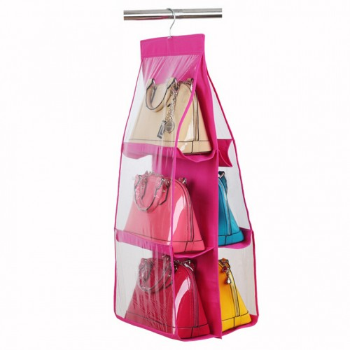 Hanging Closet Handbag Organizer 6 Pocke...