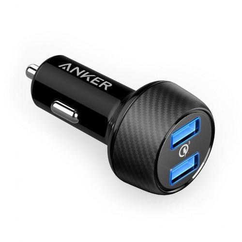 Anker PowerDrive Speed 2 (Dual QC 3.0) B...