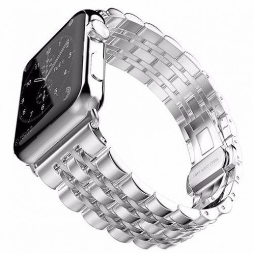 Modern Stainless Steel Link Band with Bu...
