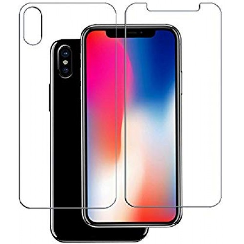 iPhone X Screen Protector Glass (Front a...