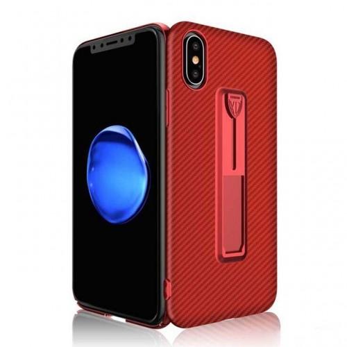 Carbon Fiber Ring Bracket Case For iPhon...