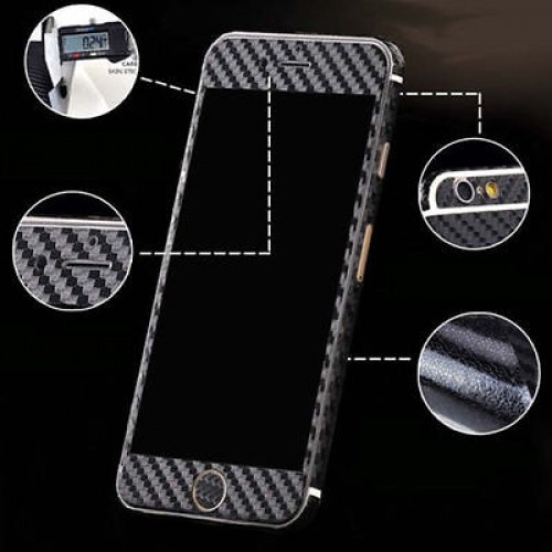 3D Carbon Fiber Full Body Back Film Stic...
